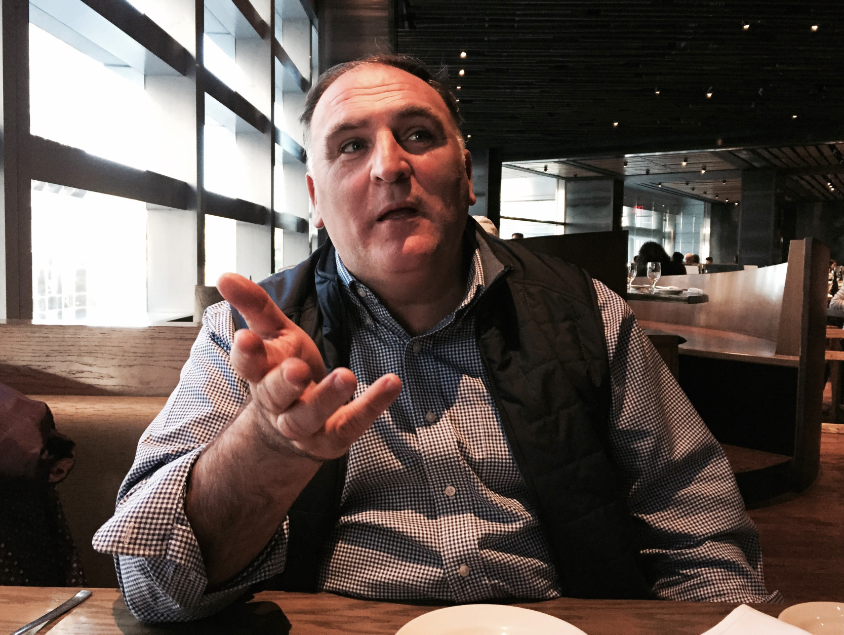Chef Jose Andres is known for his Jaleo tapas restaurants in Washington D.C., Las Vegas and elsewhere. (AP Photo/Beth J. Harpaz)