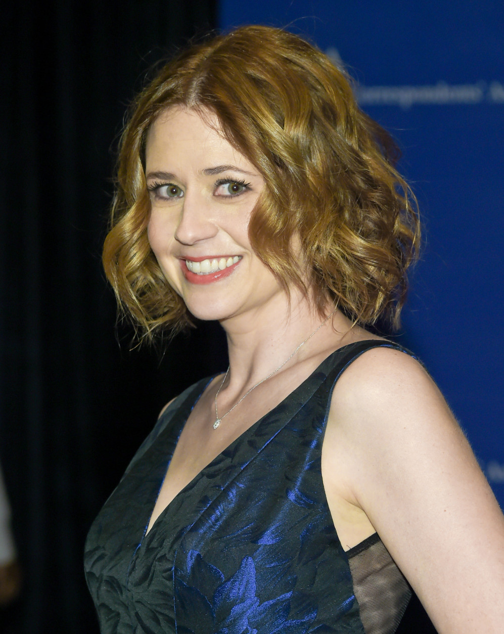 Jenna Fischer attends the White House Correspondents' Association Dinner at the Washington Hilton Hotel, Saturday, April 30, 2016, in Washington. (Photo by Evan Agostini/Invision/AP)