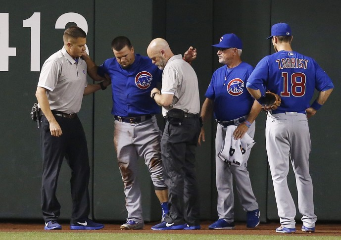Cubs slugger Schwarber out for season with knee injury