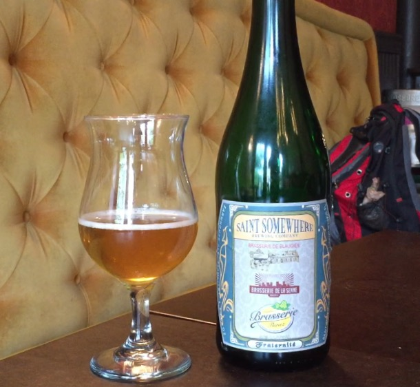 This beer is a collaboration with Brasserie de Blaugies, Brasserie de la Senne and Brasserie Thiriez.