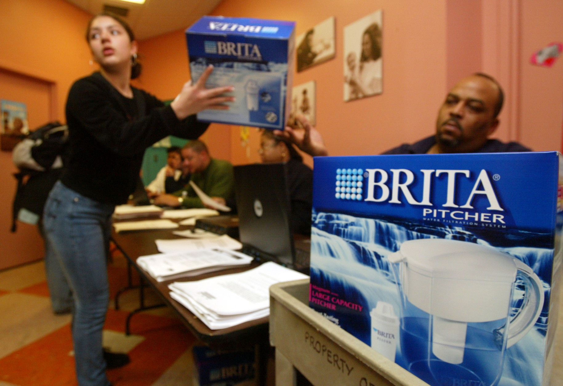 Water filters were handed out during D.C.'s drinking water crisis. (Photo by Alex Wong/Getty Images)
