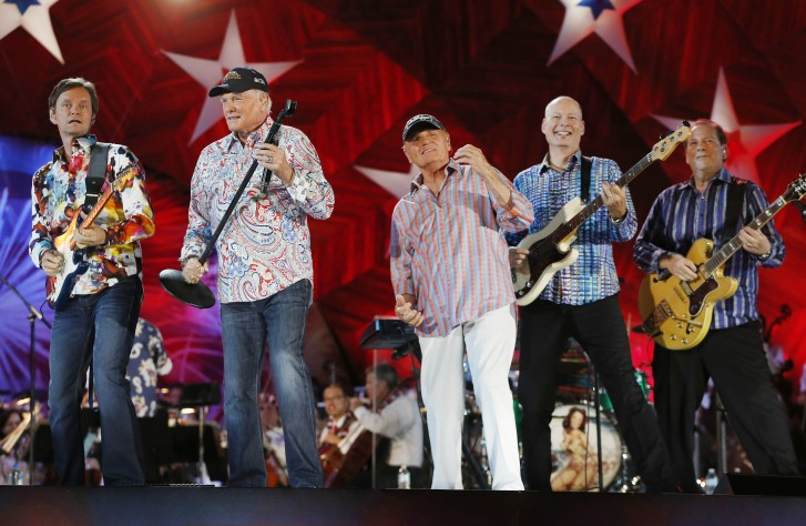 in this july 3 2014 file photo the beach boys including original members mike love second from left and bruce johnston third from left - Beach Boys Christmas