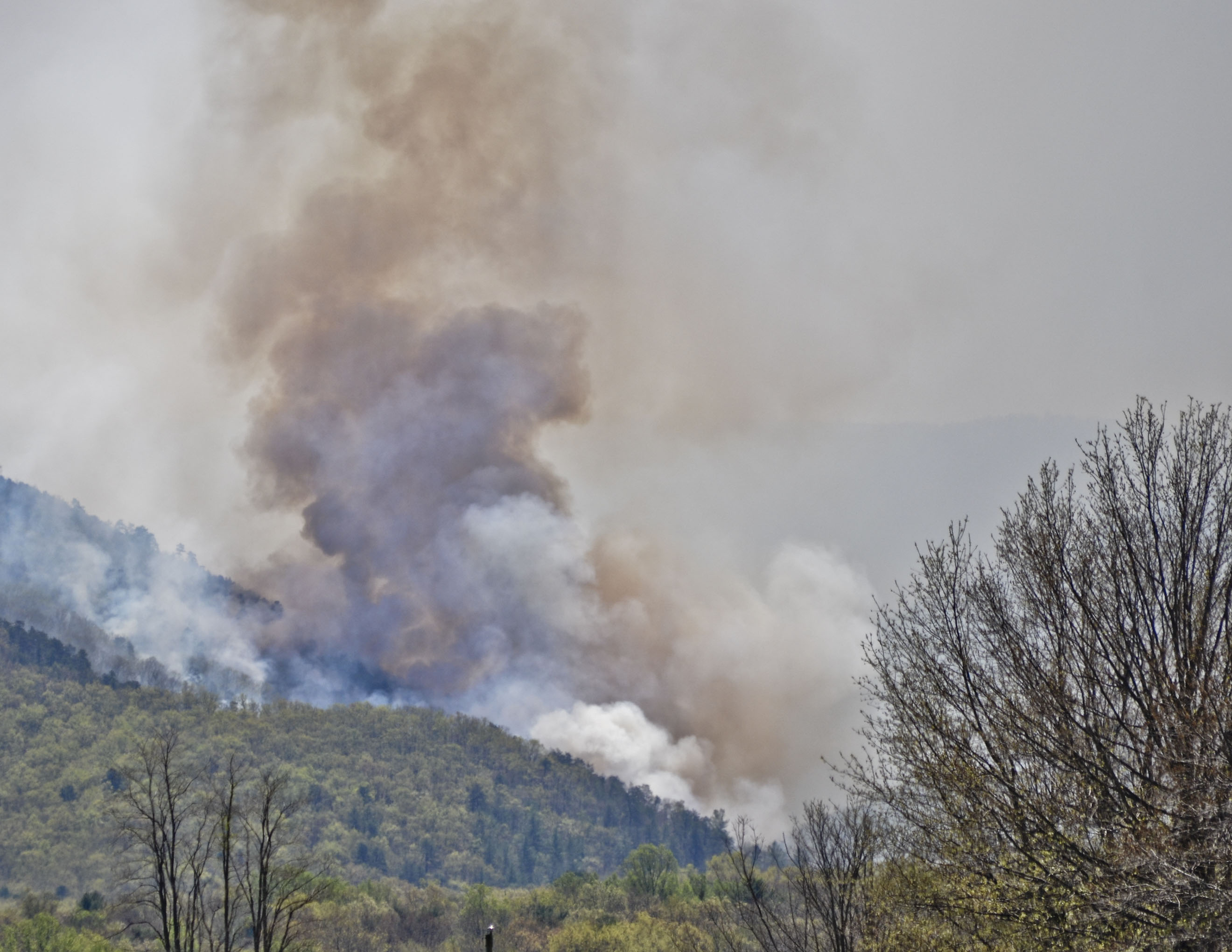 Fire in Shenandoah National Park grows to second-largest on record