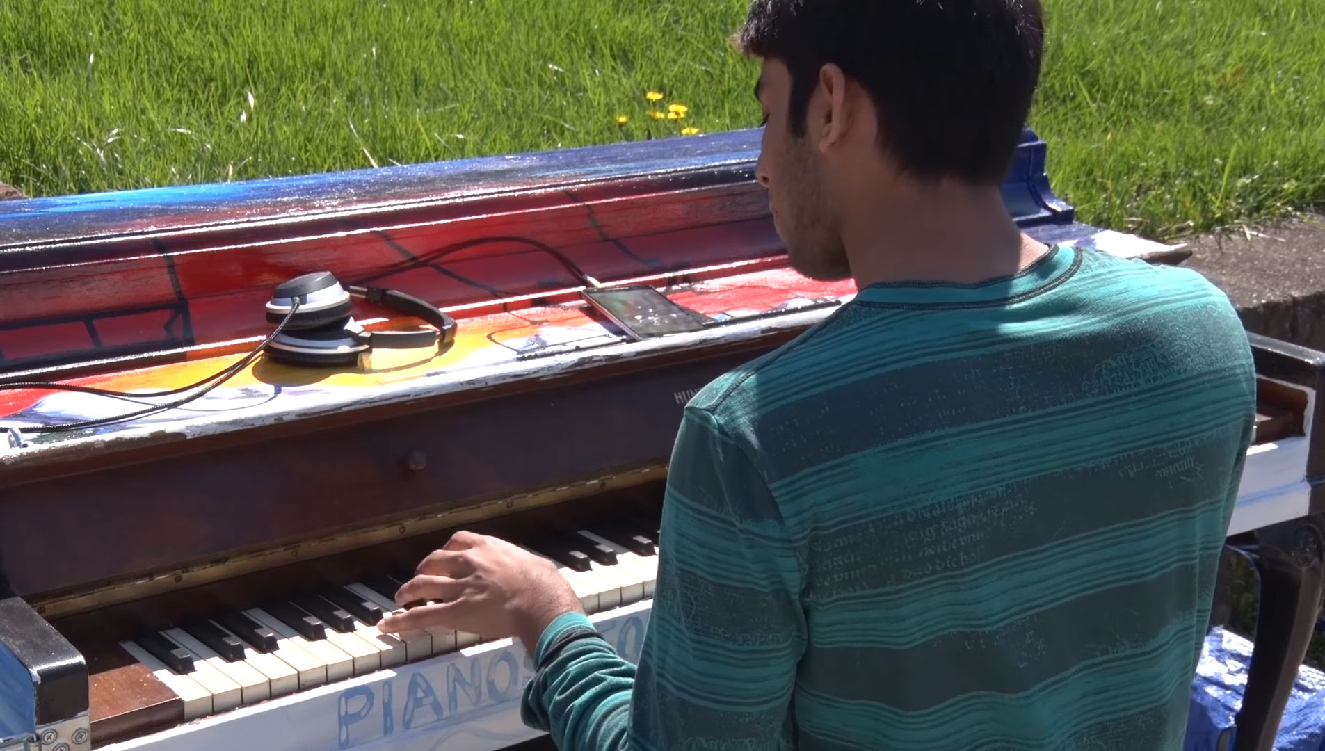 U.Md. students get the chance for a piano break (Video)