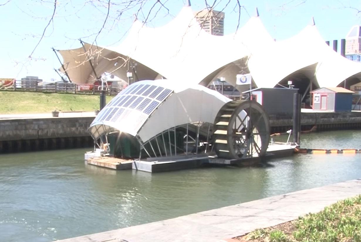 In Baltimore's Inner Harbor, Mr. Trash Wheel rakes it in (Video)