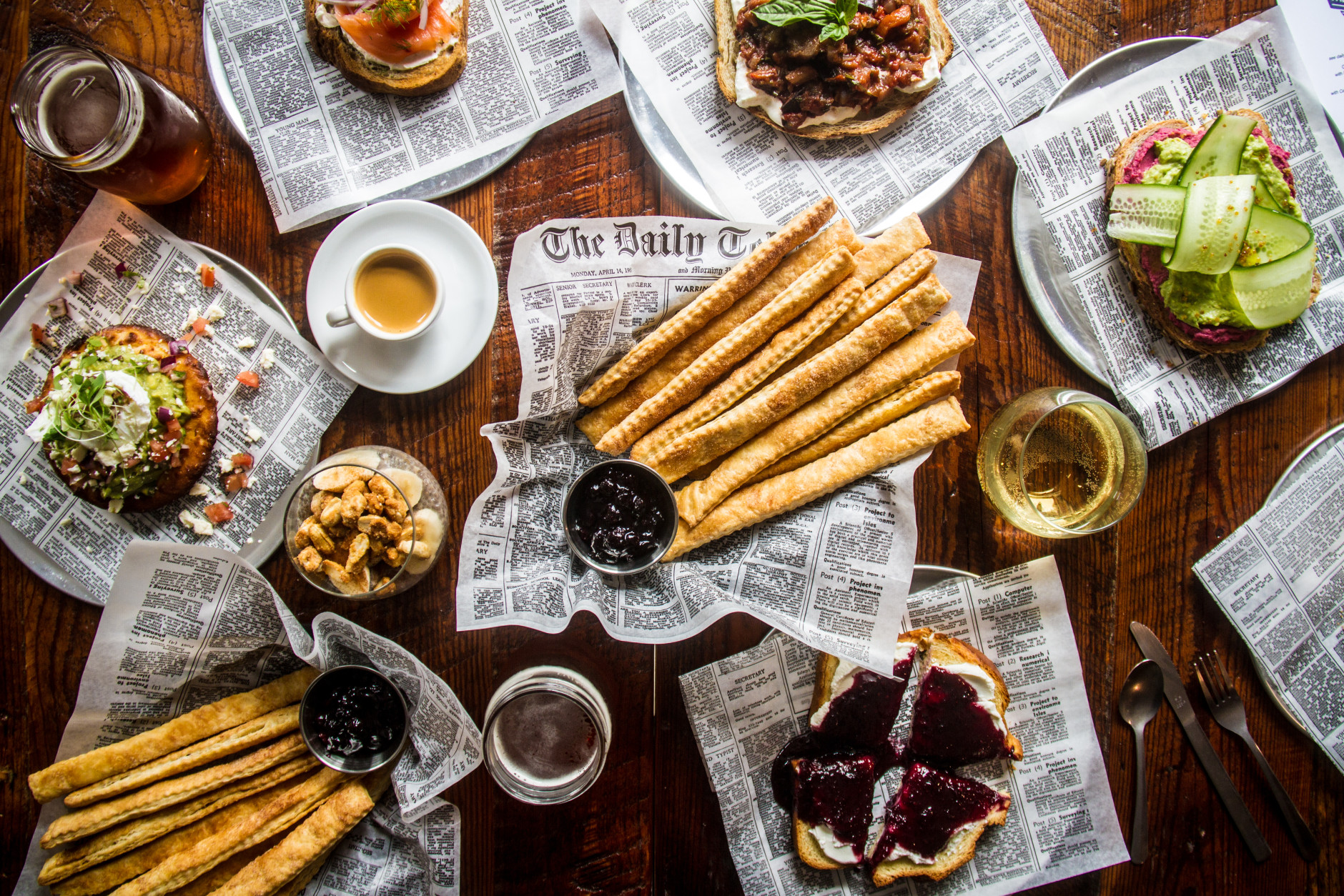 Politics & Prose in D.C. has revamped the menu at its renovated coffee shop, The Den, which now sells pie fries, shown here with a blueberry dipping sauce. (Photo by Farrah Skeiky)
