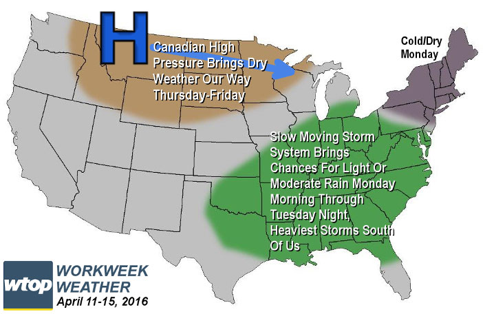 Work week weather outlook: Goodbye snow and freezing cold