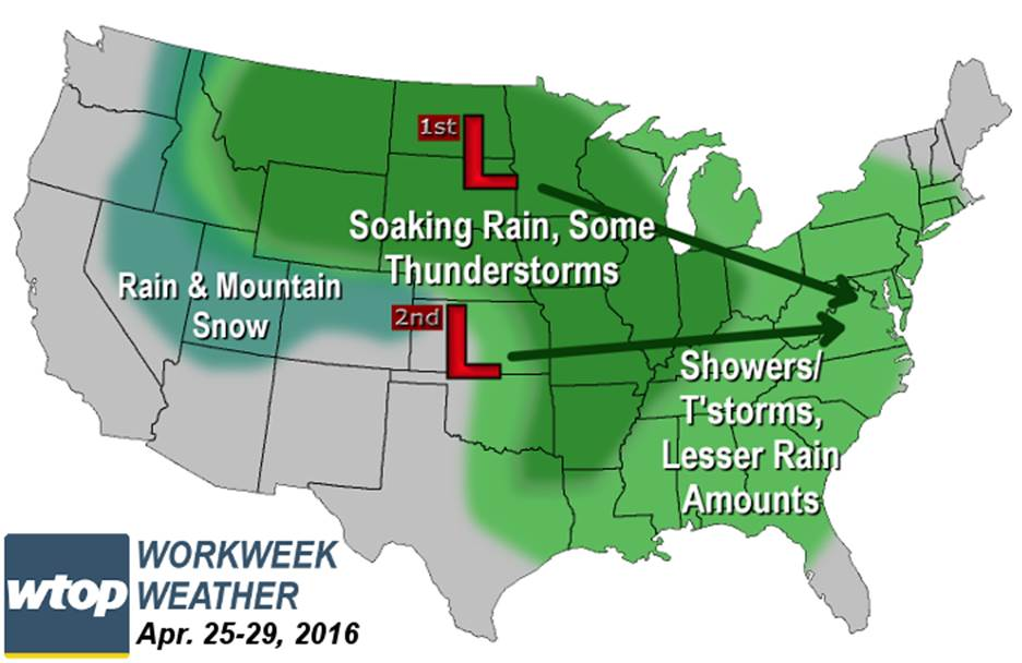 Weather outlook: Will we finally get those April showers?