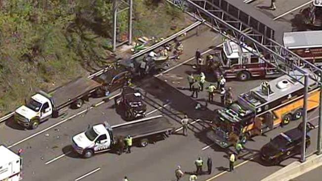 Md. trooper hurt in chain-reaction Beltway crash