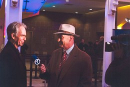 Arch Campbell interviews Billy Bob Thornton. (Courtesy Arch Campbell)