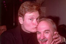 Arch Campbell jokes with Conan O'Brien. (Courtesy Arch Campbell)