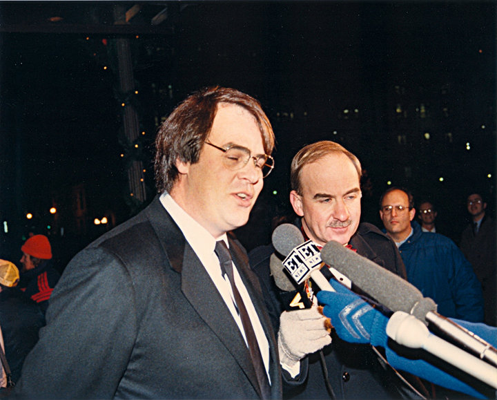 Arch Campbell interviews Dan Aykroyd. (Courtesy Arch Campbell)