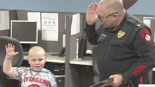 7-year-old recovering from brain tumor sworn in as honorary cop