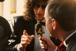 Arch Campbell interviews Howard Stern. (Courtesy Arch Campbell)