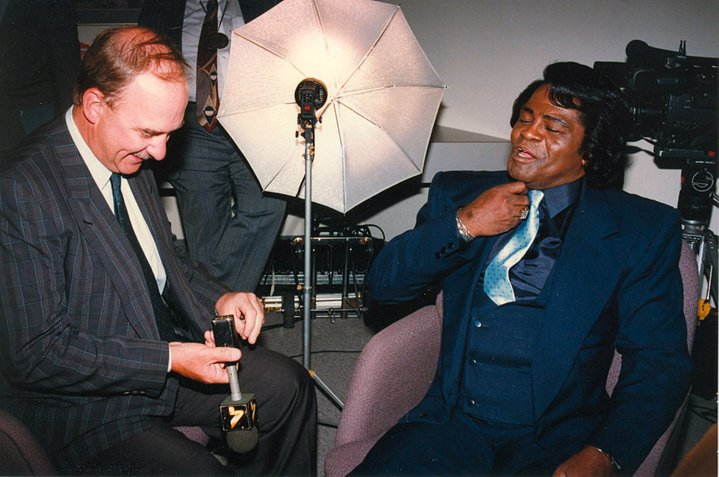 Arch Campbell interviews James Brown. (Courtesy Arch Campbell)