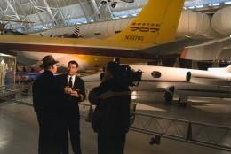 Arch Campbell interviews John Travolta. (Courtesy Arch Campbell)