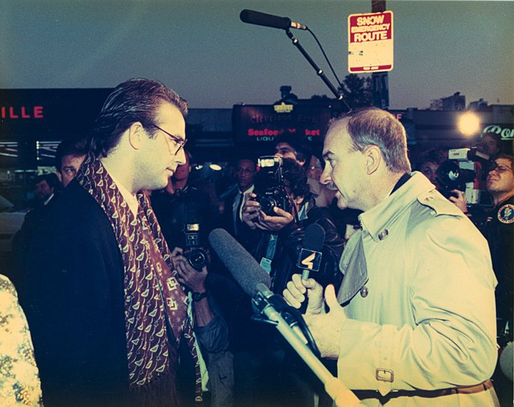 Arch Campbell interviews Kevin Costner. (Courtesy Arch Campbell)
