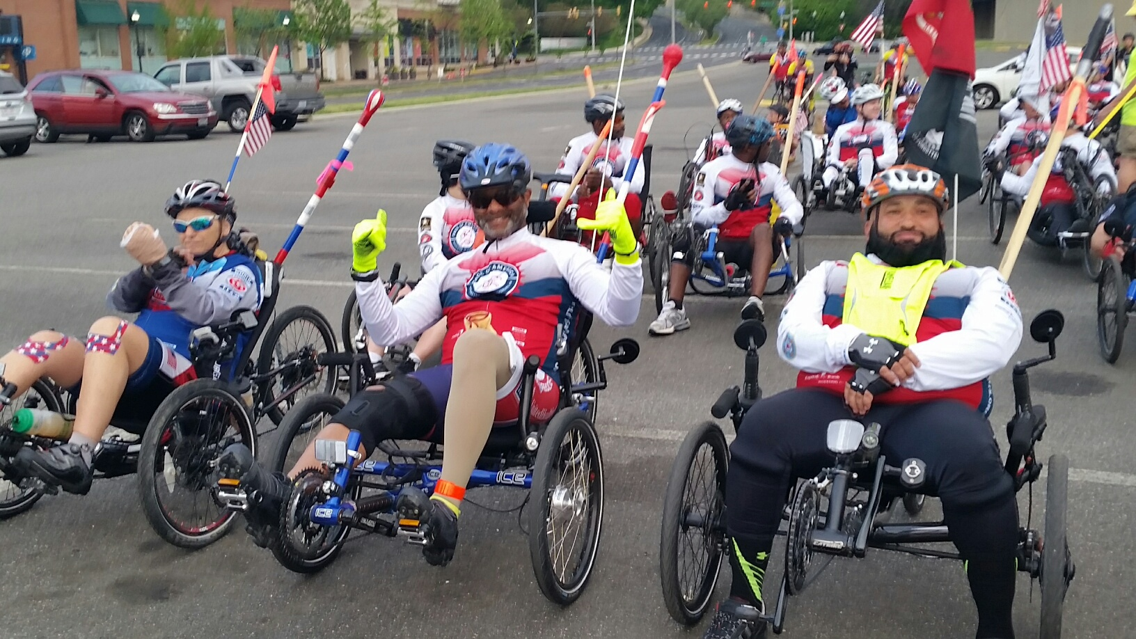 Face of America: Disabled vets make 110-mile bike journey (Photos)