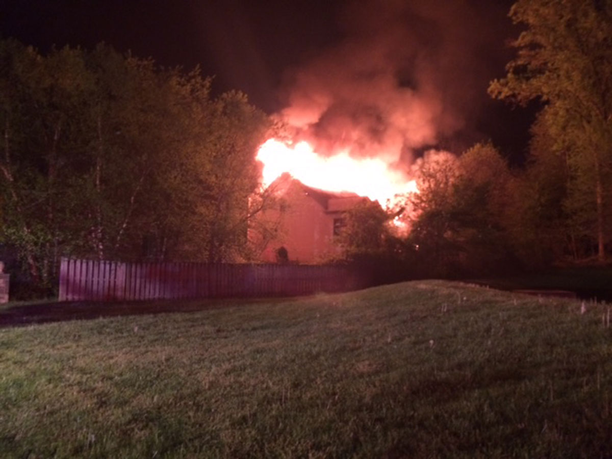 The scene of a house fire in White Oak, Maryland. (Courtesy Montgomery County Fire and Rescue)