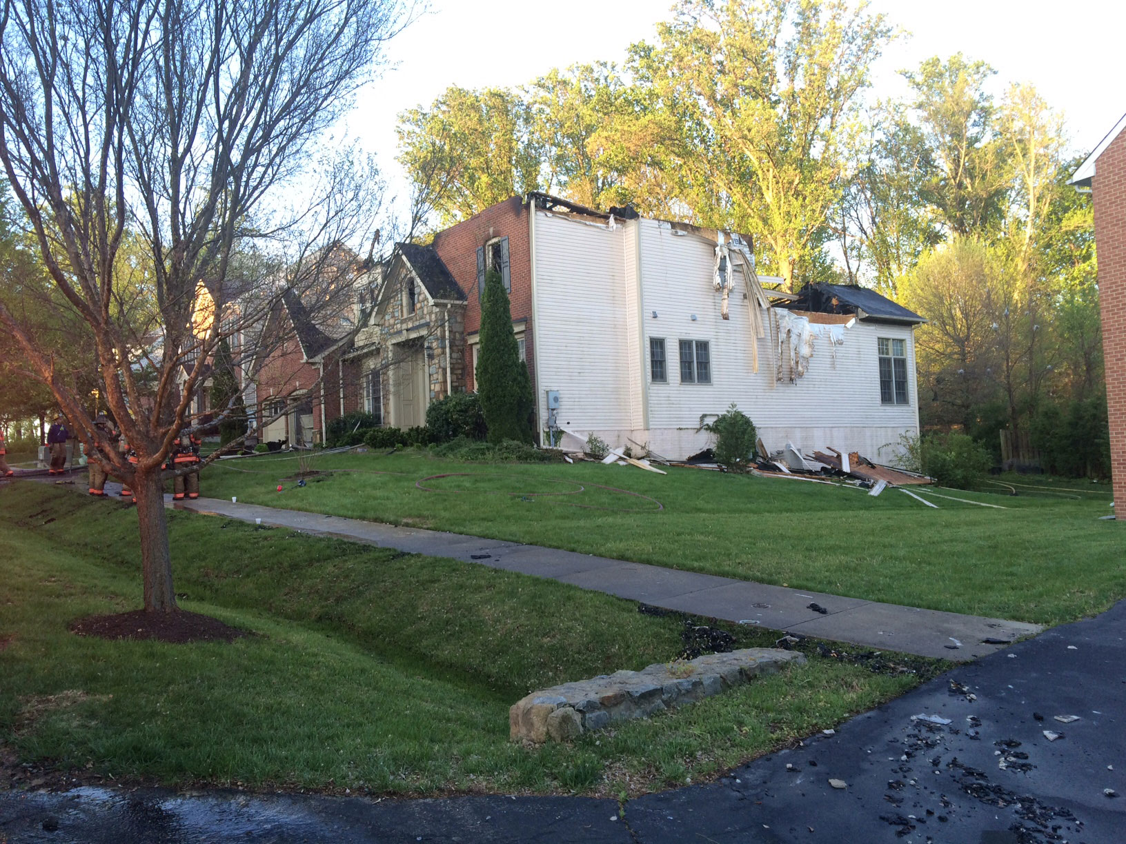 The aftermath of a house fire in White Oak, Maryland. (Courtesy Montgomery County Fire and Rescue)