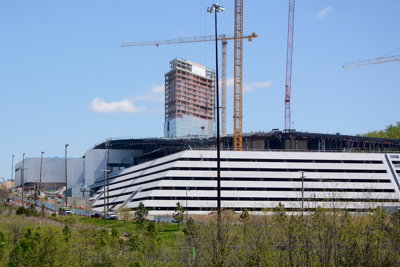 The MGM National Harbor casino, under construction in April. (Courtesy of MGM)