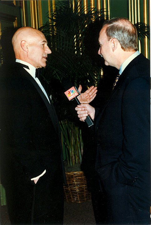 Arch Campbell interviews Patrick Stewart. (Courtesy Arch Campbell)