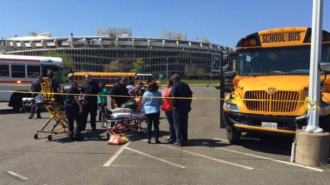 Students hurt in school bus crash in RFK Stadium parking lot