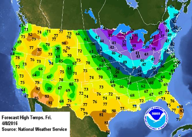 How Long Will The Cold Weather Last WTOP - National us weather map