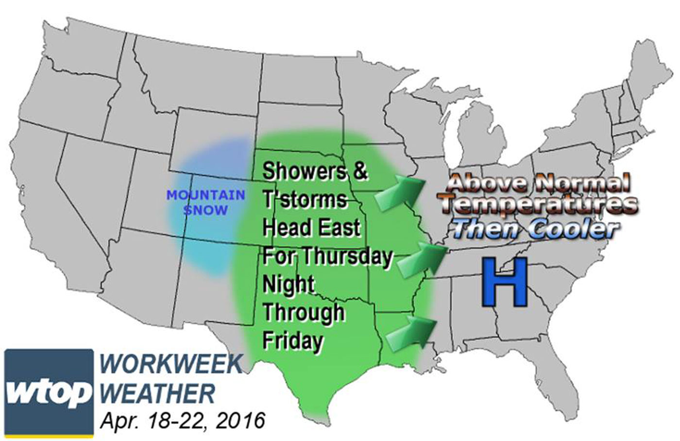 Quiet, pleasant weather for most of workweek