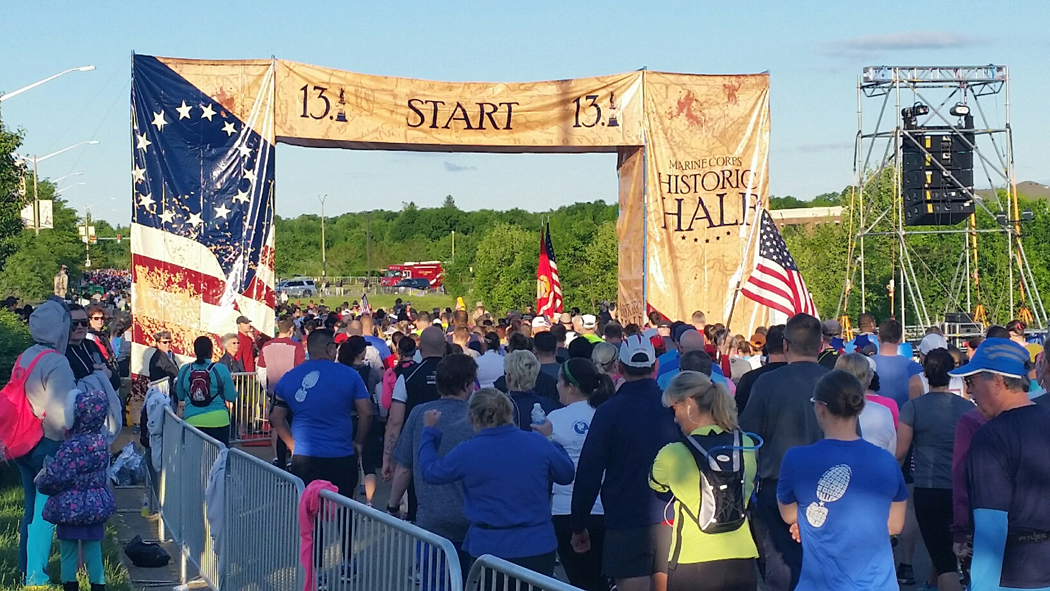 Thousands of runners take on the Marine Corps Marathon Historic-Half