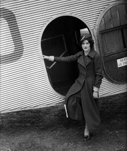 24th March 1934:  Paddy Naismith pilot and motor racer in uniform for her job as airhostess for the British Air Navigation Company.  (Photo by Fred Morley/Fox Photos/Getty Images)