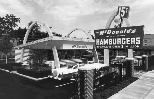 The McDonald's Museum is a replica of the first corporate McDonald's restaurant, opened here April 15, 1955, after the franchise was acquired from founders Maurice and Richard McDonald.