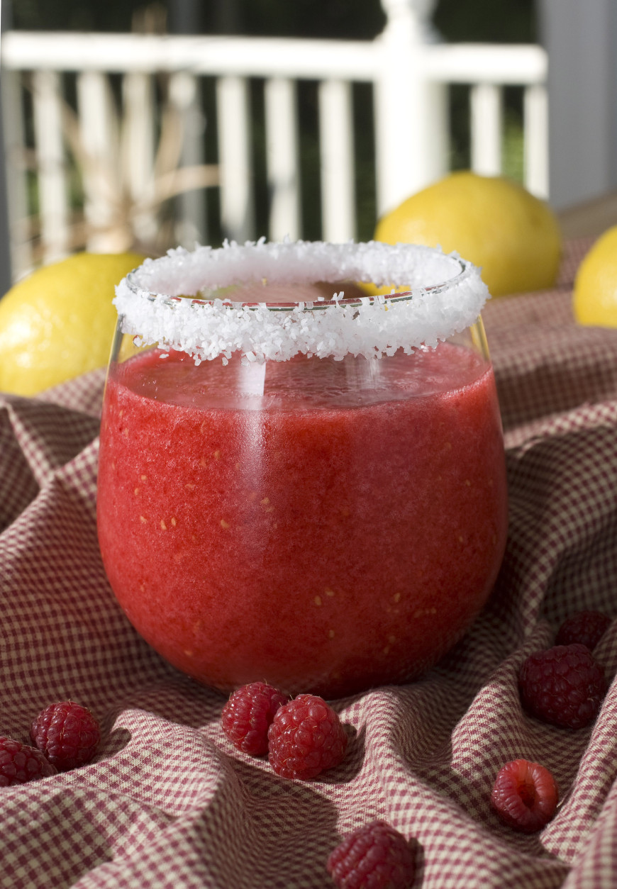 **FOR USE WITH AP LIFESTYLES** The perfect frozen margarita needs only a blender and the ability to get the proportions of your favorite ingredients right. Salt heightens the sweet and acidic flavors in this Lemon Berry Margarita. (AP Photo/Larry Crowe)