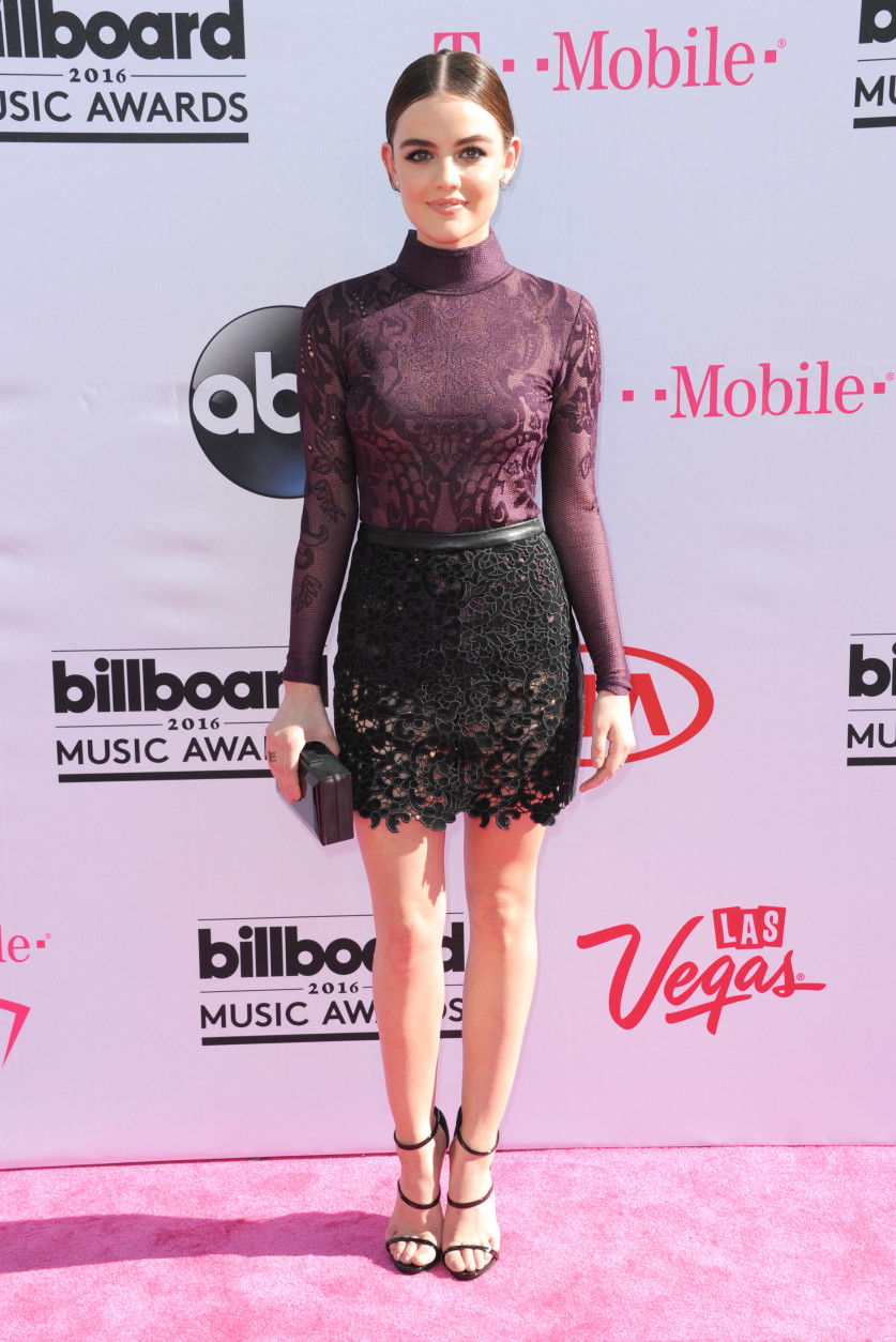 Lucy Hale arrives at the Billboard Music Awards at the T-Mobile Arena on Sunday, May 22, 2016, in Las Vegas. (Photo by Richard Shotwell/Invision/AP)