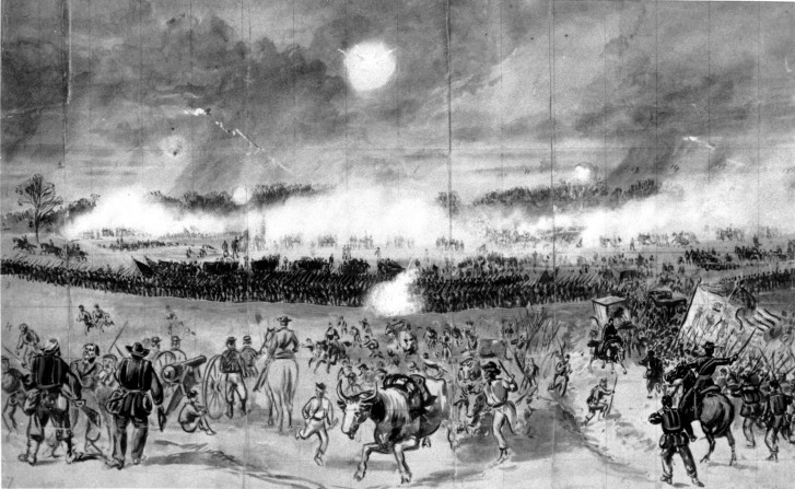 This Drawing From The American Civil War Shows Action At Battle Of Chancellorsville In Va On May 2 1863 Animals And Remnants Union XI