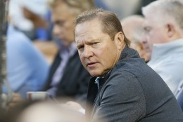 Sports agent Scott Boras attends the baseball game between the Los Angeles Dodgers and Washington Nationals, Tuesday, Aug. 11, 2015, in Los Angeles. (AP Photo/Danny Moloshok)