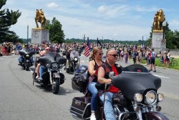 Thousands of motorcyclists are expected to roll into the nation's capital for Rolling Thunder on Sunday, May 29, 2016. (WTOP/Kathy Stewart)