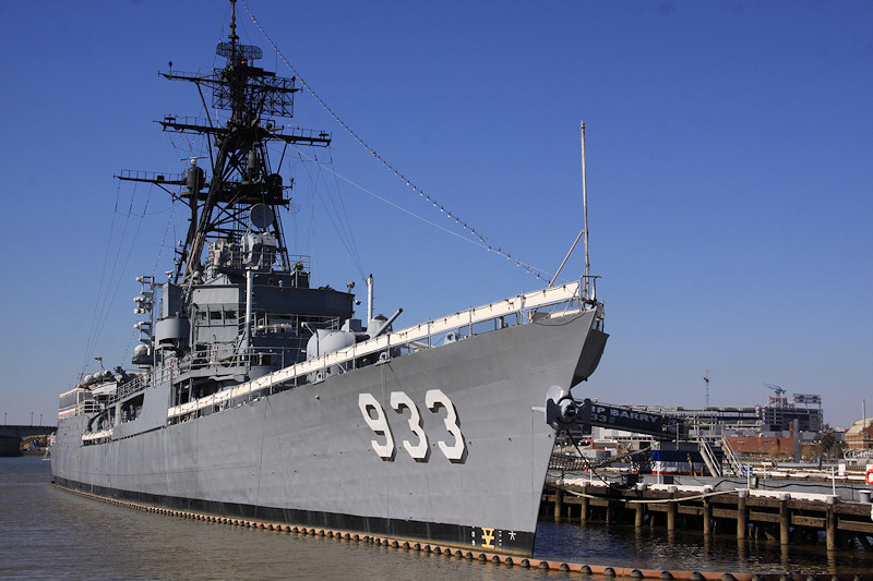 Museum ship at Navy Yard leaving the nation's capital