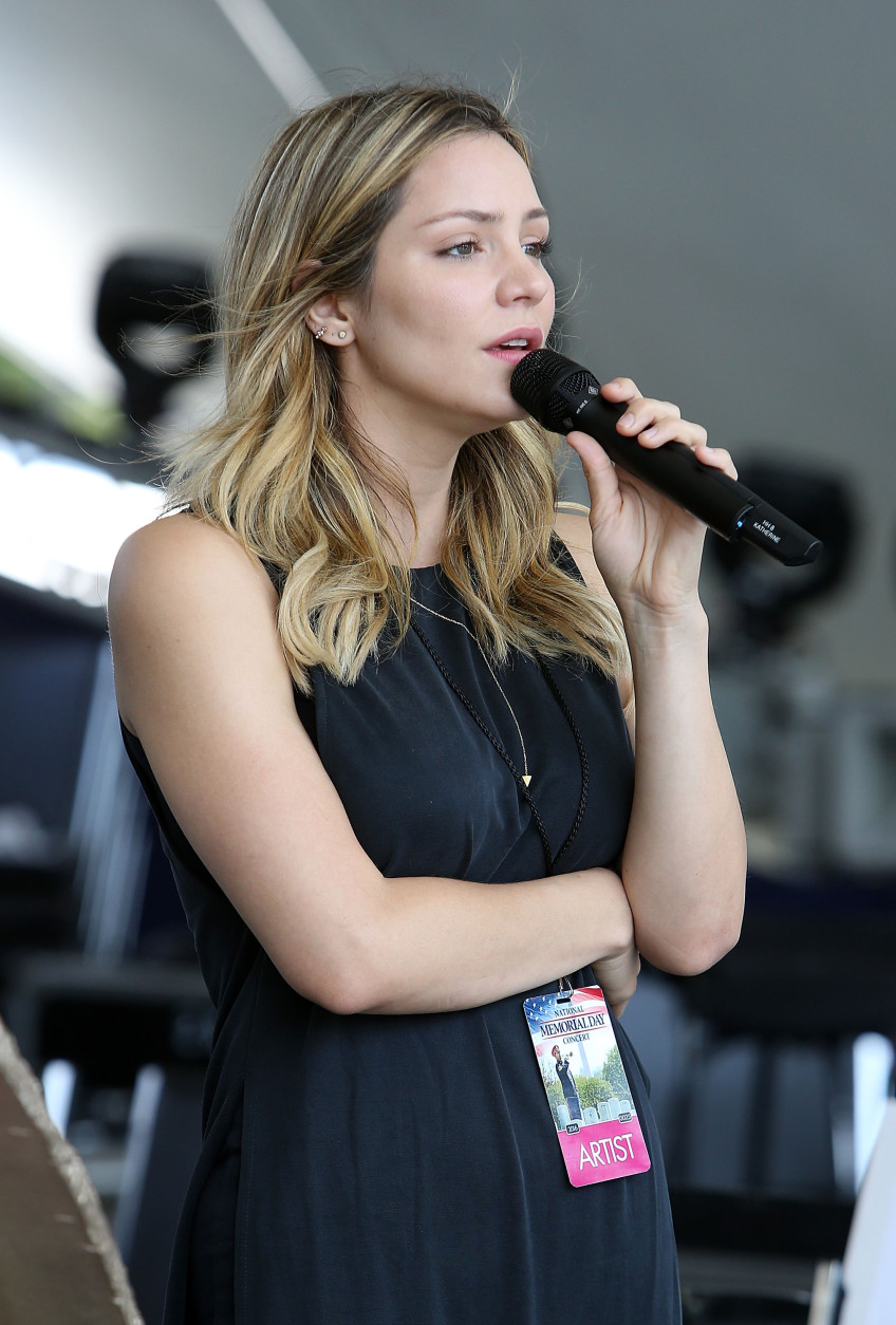 WASHINGTON, DC - MAY 28:  Katharine McPhee performs during the 27th National Memorial Day Concert Rehearsals on May 28, 2016 in Washington, DC.  (Photo by Paul Morigi/Getty Images for Capitol Concerts)