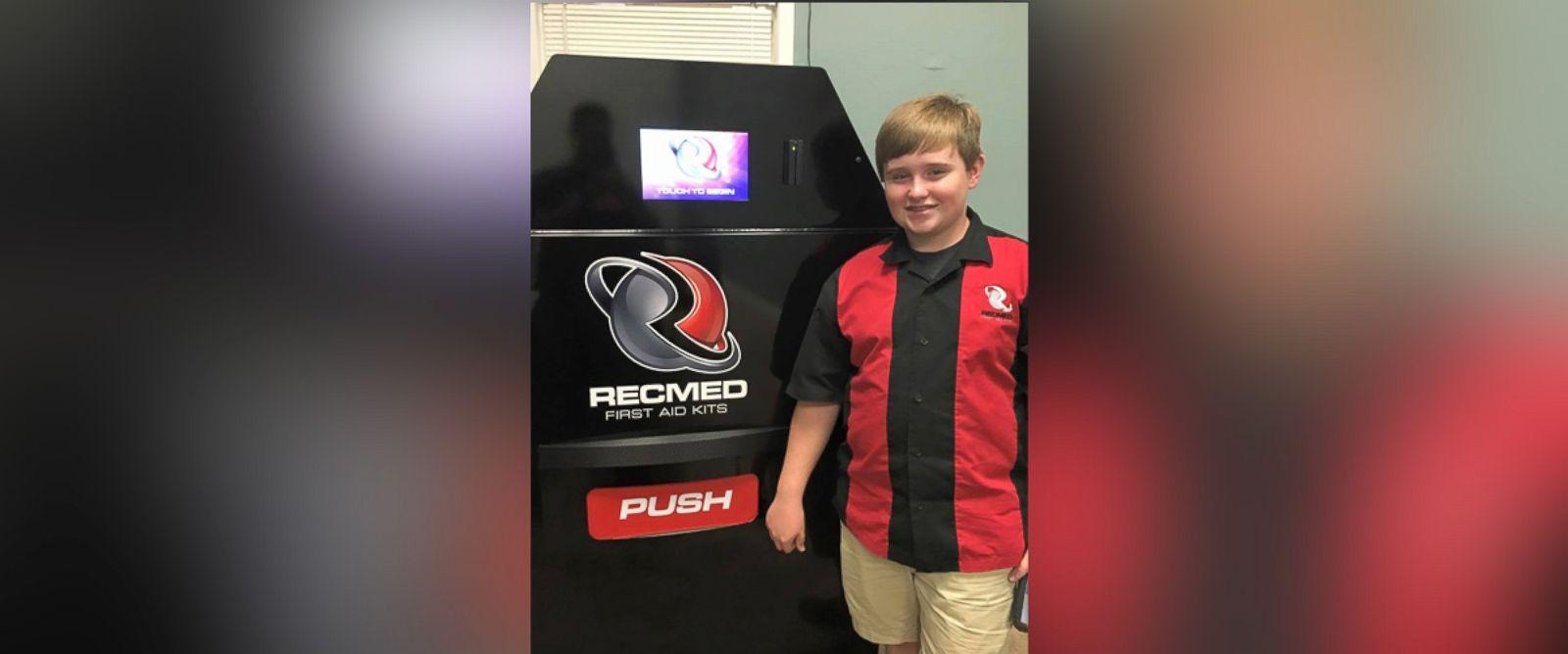 Teen entrepreneur raises $100K to create first-aid vending machine