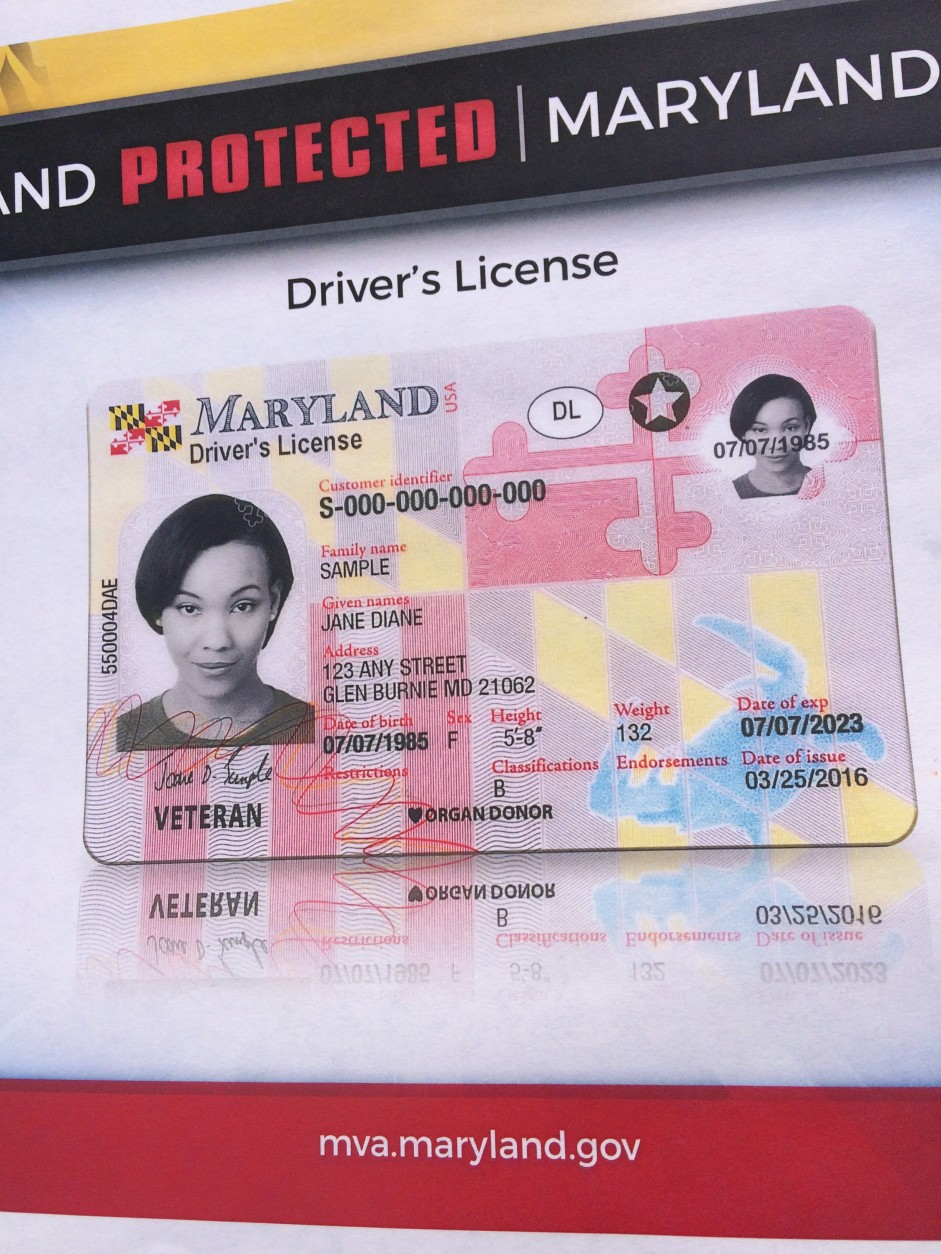 Wtop New Unveil Driver's Officials License Maryland