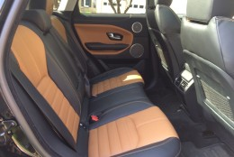 The Oxford leather seats seem to be higher quality leather than in the previous Evoque. (WTOP/Mike Parris)