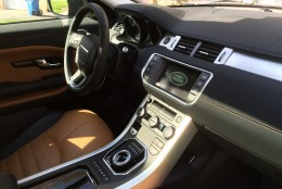 The buttons in this updated Evoque are now clearly marked and easy to read and react. (WTOP/Mike Parris)