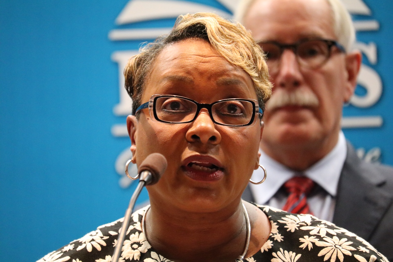 The task faced criticisms for not holding public meetings, but Dr. Charlene Dukes, president of the Prince George's Community College and chair of the task force, said that it was necessary for the task force to operate outside the public's view. (WTOP/Kate Ryan)