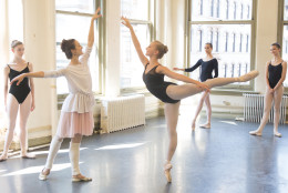 Julie Kent, in the studio, says she's unsure exactly how her style will translate into the company's dances but feels her experience will trickle down from the executive staff to the youngest performers in the Washington Ballet. (Courtesy Rosalie O'Connor)