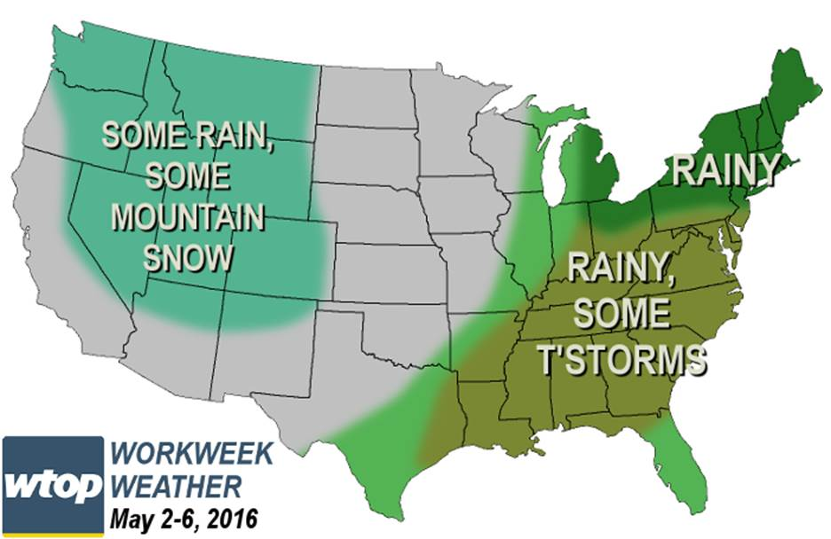 Work week weather preview: More rain in store?