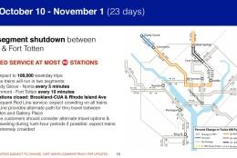 Metro's plan for Oct. 10 - Nov. 1.  (Courtesy Metro)