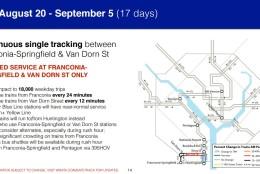 Metro's plan for Aug. 20-Sept.5. (Courtesy Metro)