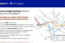Metro's plan for June 4-16. (Courtesy Metro)