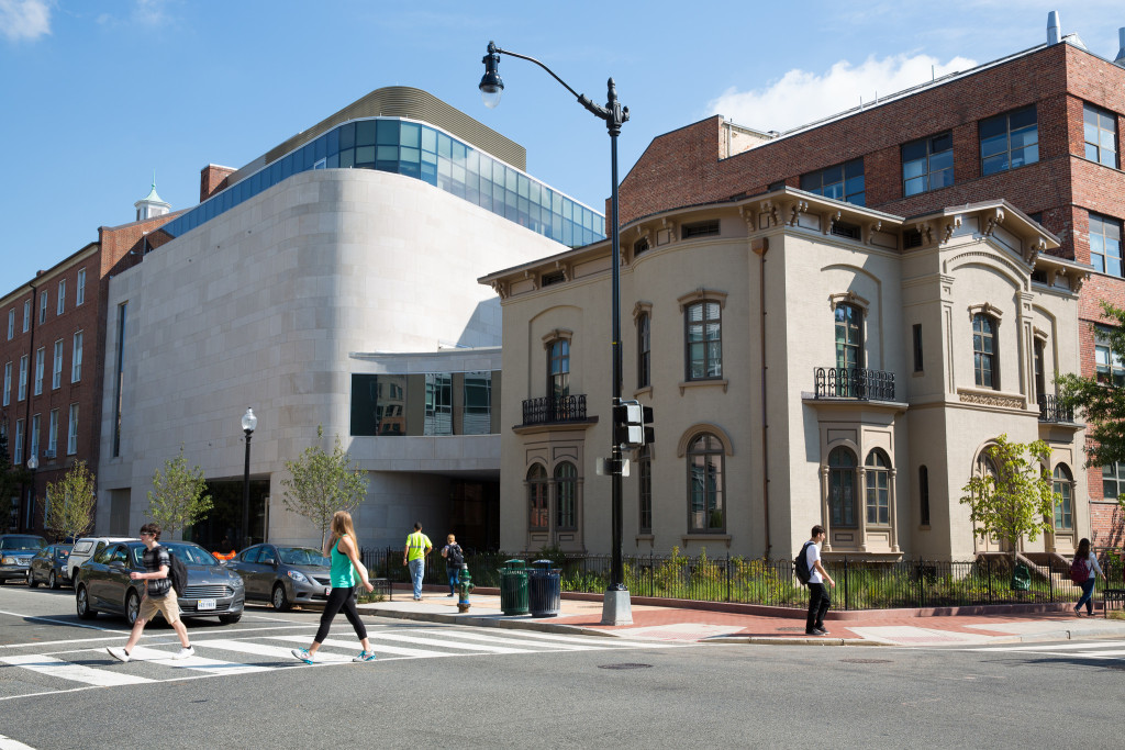 The George Washington University Museum and The Textile Museum opened in their shared home in March 2015. The two partnered on the 46,000-square-foot joint museum at 21st and G streets in Northwest. (The George Washington University Museum and Textile Museum)